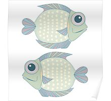 Two Cool Fish Poster