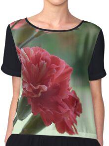 Flower red Chiffon Top