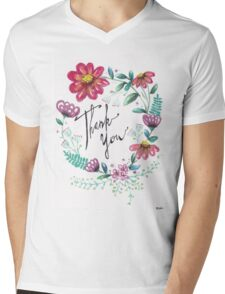 Thank You Mens V-Neck T-Shirt