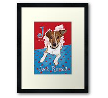 J is for Jack Russell Framed Print