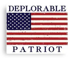 Deplorable Patriot (Blue Letters) Canvas Print