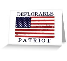 Deplorable Patriot (Blue Letters) Greeting Card
