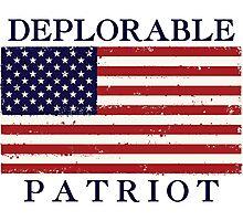 Deplorable Patriot (Blue Letters) Photographic Print