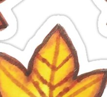 Autumn Leaves - Yellow Set Sticker