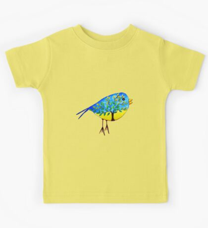 There's a tree in the bird Kids Tee