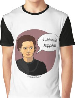Funny science Marie Curie Graphic T-Shirt