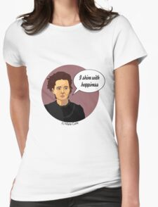 Funny science Marie Curie Womens Fitted T-Shirt