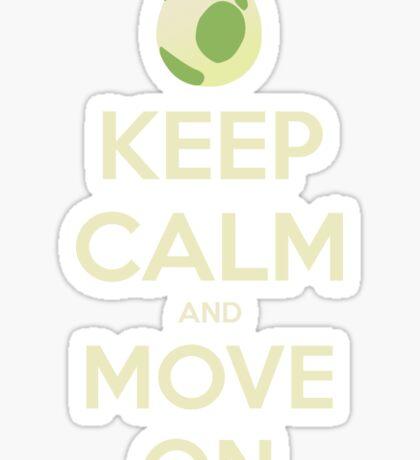 Move on! Sticker