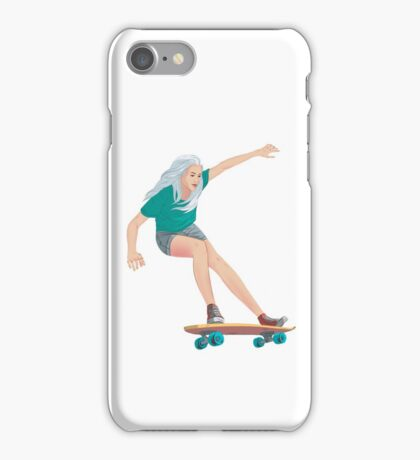 Skateboard chick blond iPhone Case/Skin