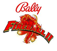 Bally pinball machine Fireball II  Photographic Print