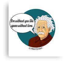 Funny science Albert Einstein Canvas Print