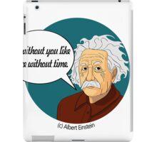 Funny science Albert Einstein iPad Case/Skin