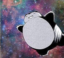 Snorlax In Space by Jon Barton