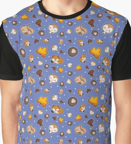 Super Cute Woodland Animals Graphic T-Shirt
