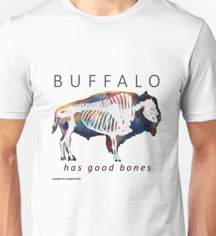 Buffalo Has Good Bones Watercolor Print Unisex T-Shirt