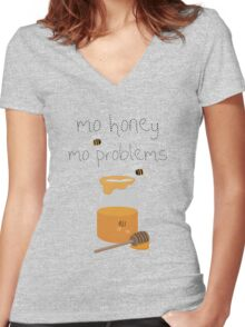 A Sticky Situation Women's Fitted V-Neck T-Shirt