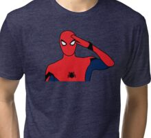 SpiderMan Salute Tri-blend T-Shirt