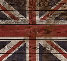 Wood Crate Boards Union Jack  by Rajee
