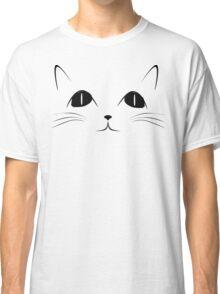 Black Cat Face Cute Animal Cartoon Classic T-Shirt