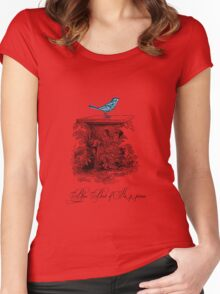 Blue Bird of Happiness Women's Fitted Scoop T-Shirt