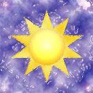 Sun On Purple Waves by Amy-Elyse Neer