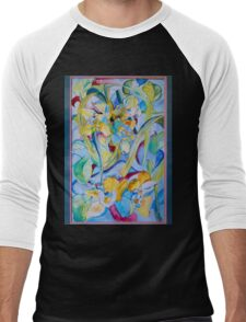 Orchid--Reveal Men's Baseball ¾ T-Shirt