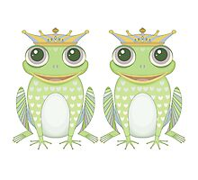 Two Frogs With Crowns Photographic Print