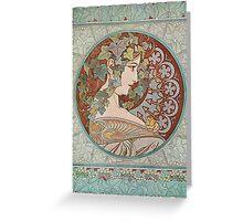 Alphonse Mucha - Ivy, 1901  Greeting Card