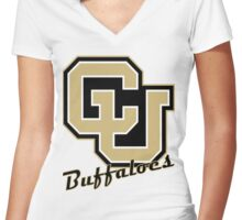 UC Buffaloes - Hey Ralphie! Women's Fitted V-Neck T-Shirt
