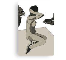 Naked Fridha Canvas Print