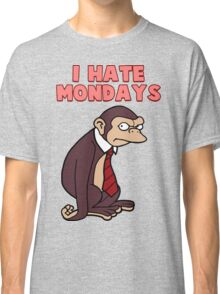 Monday Monkey Lives For The Weekend, Sir. Classic T-Shirt