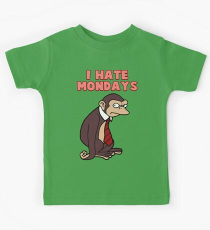 Monday Monkey Lives For The Weekend, Sir. Kids Tee