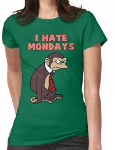 Monday Monkey Lives For The Weekend, Sir. Womens Fitted T-Shirt