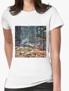 Partrige on a Rock Womens Fitted T-Shirt