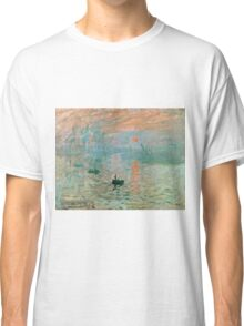 Claude Monet - Impression Sunrise  Classic T-Shirt