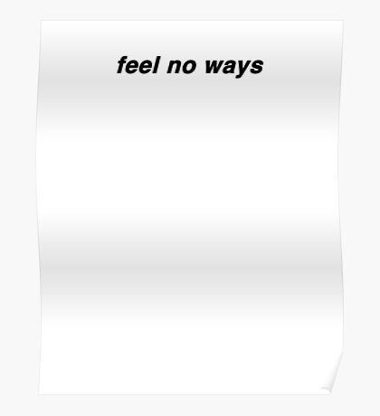 feel no ways - drake Poster