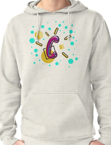 Letter C - My Initial Pullover Hoodie