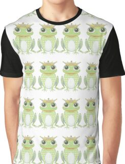 Quadruplet Princely Frogs Graphic T-Shirt