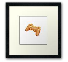 gold gamepad Framed Print