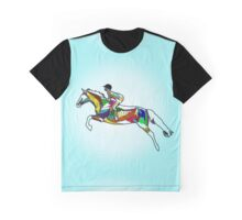 Jumping Horse and Rider - Muscles Graphic T-Shirt