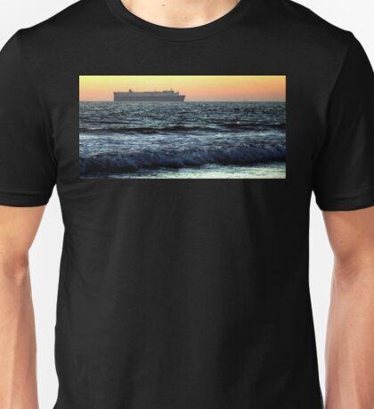 Sunset Cargo Ship Unisex T-Shirt