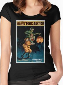 Performing Arts Posters Chas H Yales forever Devils auction 1069 Women's Fitted Scoop T-Shirt