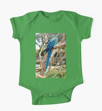 Blue And Gold Macaw One Piece - Short Sleeve