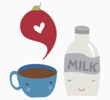 Coffee loves milk Kids Tee