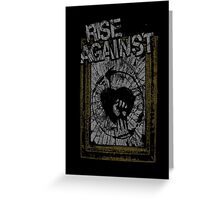 Rise Against Smashed Frame Greeting Card