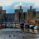 CAERNARFON CASTLE HARBOUR by NICK COBURN PHILLIPS