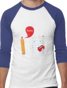 Pencil + paper Men's Baseball ¾ T-Shirt