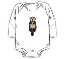 Sea Otter with Pizza One Piece - Long Sleeve