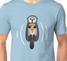 Sea Otter with Pizza Unisex T-Shirt