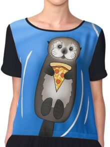 Sea Otter with Pizza Chiffon Top